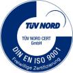 TÜV DIN EN ISO 9001 zertifiziert